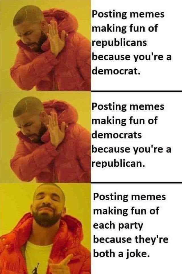 Drake make fun of both parties